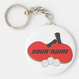 Personalized Table Tennis Ping Pong Keychain