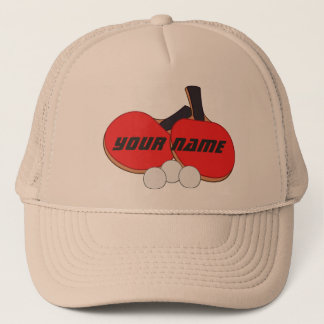Personalized Table Tennis Ping Pong Trucker Hat