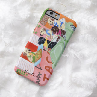 Personalized Taco Fun Labradors Barely There iPhone 6 Case