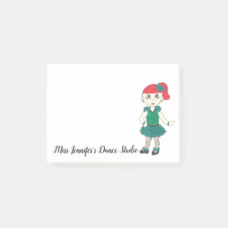 Personalized Tap Dance Teacher School Studio Gift Post-it Notes