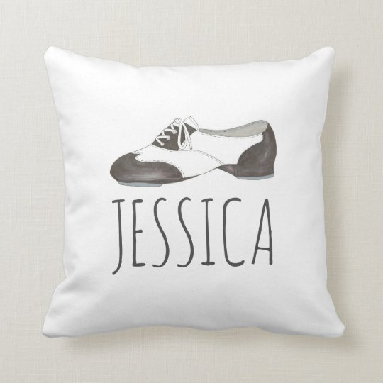 Personalized Tap Shoe Oxford Dance Dancer Pillow