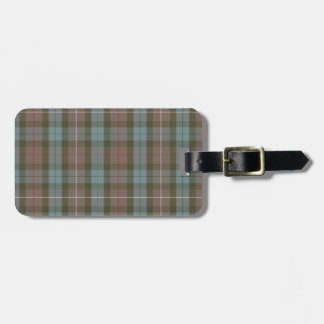 Personalized Tartan Luggage Tag