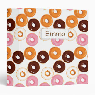 Personalized Tasty Assortment of Donuts 3 Ring Binders