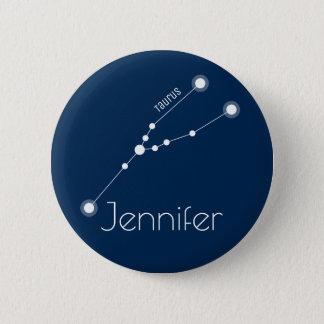 Personalized Taurus Zodiac Constellation 2 Inch Round Button