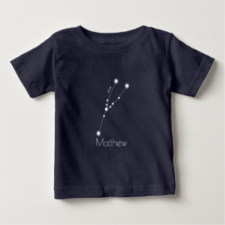 Personalized Taurus Zodiac Constellation Baby T-Shirt