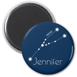 Personalized Taurus Zodiac Constellation Magnet