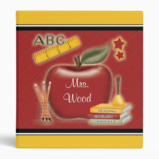 Personalized Teacher Album Vinyl Binder