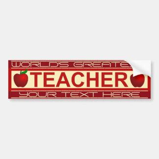 Personalized Teacher Bumper Sticker