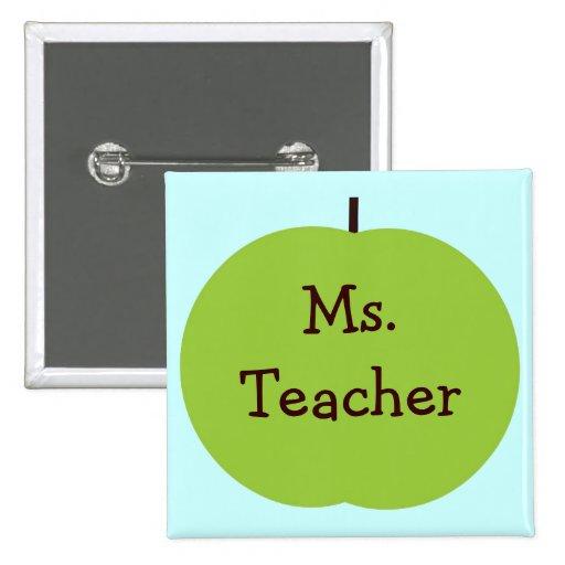 Personalized Teacher Button
