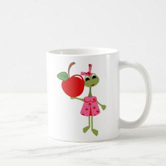 Personalized Teacher Coffee Mug-Cute Toad w/ Apple Coffee Mug