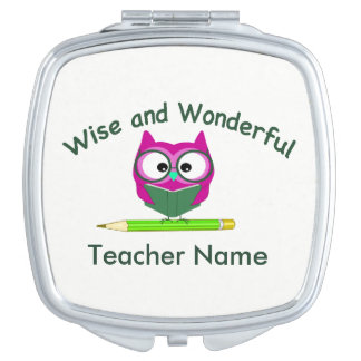 Personalized Teacher Compact Travel Mirrors