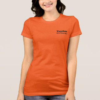 Personalized Teacher Name Orange T-shirt