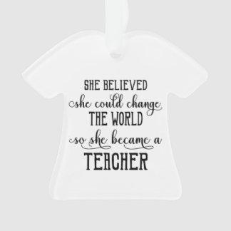 Personalized Teacher Ornament