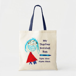 Personalized Teacher Survival Tote Bag