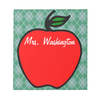 Personalized Teacher's Apple Notepad Gift Present