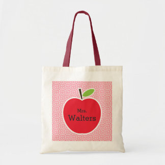 Personalized Teacher's Apple Tote Bag