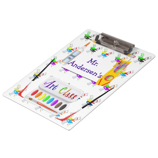 Personalized Teachers Art Class Clipboard