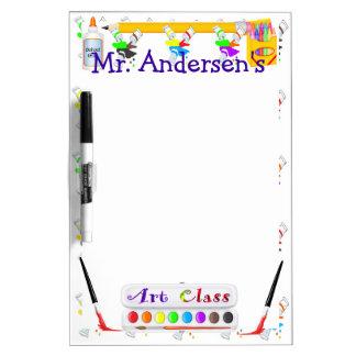 Personalized Teachers Art Class Dry Erase Board