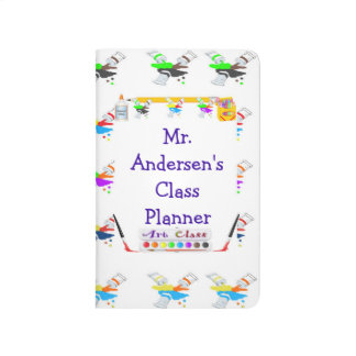 Personalized Teachers Art Class Pocket Journal