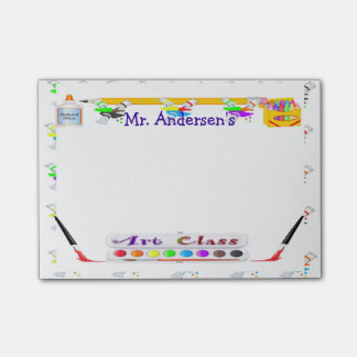 Personalized Teachers Art Class Post-it® Notes