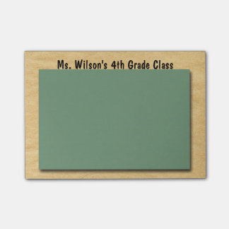 Personalized Teachers Brown Bag Chalkboard Post-it Post-it Notes