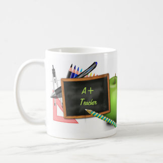 Personalized Teacher's Chalkboard Classic White Coffee Mug