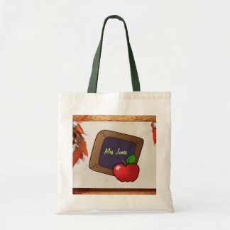 Personalized Teacher's Chalkboard Tote Bag