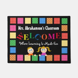 Personalized Teacher's Fun Welcome Doormat