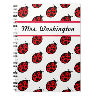 Personalized Teacher's Ladybug Class Notebook Gift