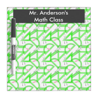 Personalized Teachers Math Tools Dry Erase Board