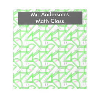 Personalized Teachers Math Tools Notepad