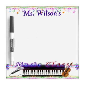 Personalized Teachers Music Class Dry Erase Board