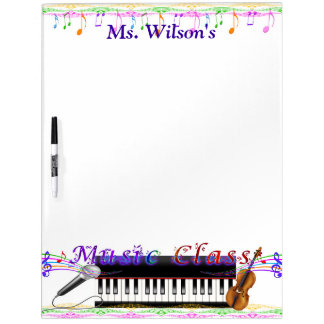 Personalized Teachers Music Class Dry Erase Board