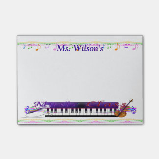 Personalized Teachers Music Class Post-it® Notes