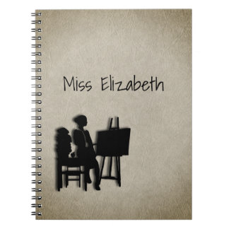 Personalized Teacher's Room Leather Look Notebook