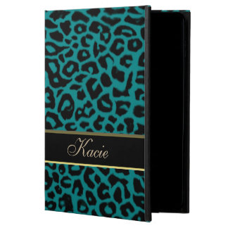 Personalized Teal Animal Leopard iPad Air 2 Case