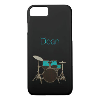 Personalized Teal Drums Music iPhone 7 Case