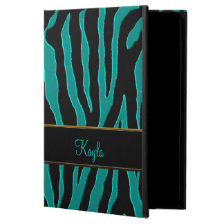 Personalized Teal Tiger Animal Print iPad 2 Case