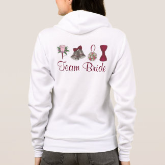 Personalized TEAM BRIDE Wedding Party Hoodie