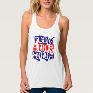 Personalized Team Bride Womens Girls by VIMAGO Tank Top