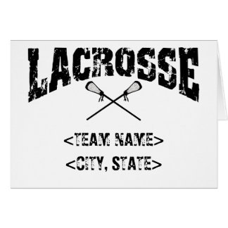 Personalized Team City State Lacrosse T-Shirts Card