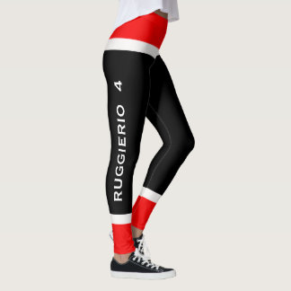 Personalized Team Colors Ice Hockey Leggings