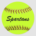 Personalized Team Softball Stickers