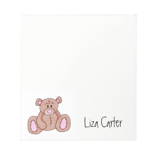 Personalized Teddy Bear Notepad
