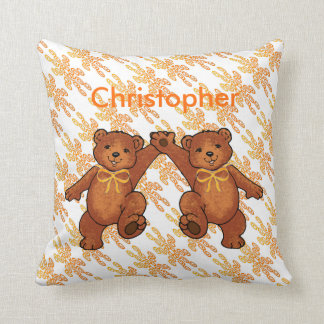 Personalized Teddy Bears Throw Pillow