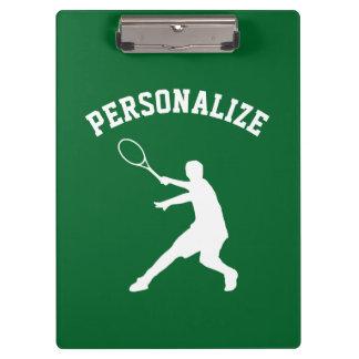 Personalized tennis player coach accessory custom clipboard