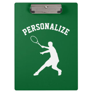 Personalized tennis player coach accessory custom clipboards
