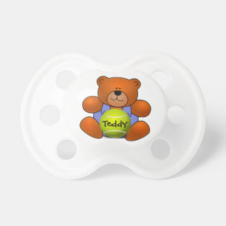 Personalized Tennis Teddy Bear Design Pacifier
