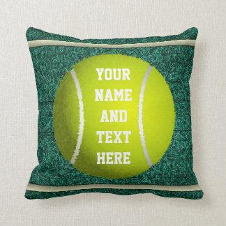 Personalized Tennis Throw Pillow