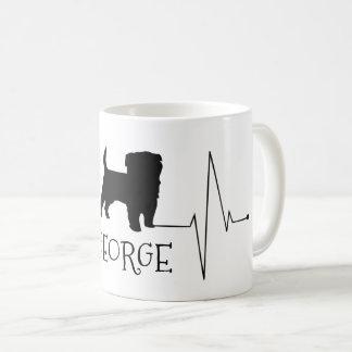 Personalized Terrier Love My Dog Heart Beat Coffee Mug